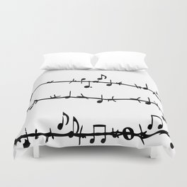 Barbed Wire Stave Duvet Cover