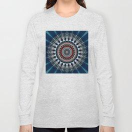 Festive Winter Night Mandala Long Sleeve T-shirt