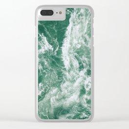 Emerald Ocean Clear iPhone Case