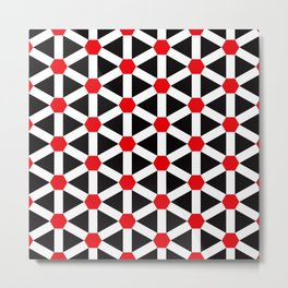 Geometric Pattern #185 (red hexagons) Metal Print
