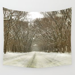Snowy Path At Point Pele Wall Tapestry