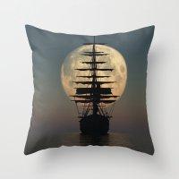 ship Throw Pillows featuring Ship by samedia