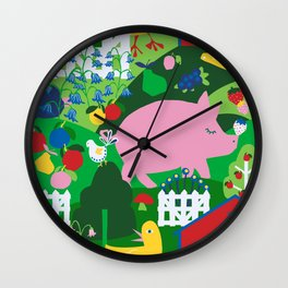 Mod Scandinavian Farm Wall Clock