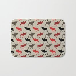 Bull Moose Pattern Bath Mat