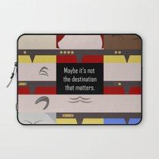 Maybe it's not the Destination that matters - Star Trek: Voyager VOY startrek trektangle minimalist Laptop Sleeve