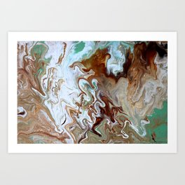 Milk Chocolate with peppermint & cream 3 Art Print