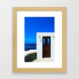 Door in the paradise Framed Art Print
