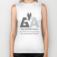 gandalf Biker Tanks featuring Gandalf Airlines by Faniseto