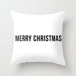 Merry Christmas #minimalism #holidays #xmas Throw Pillow