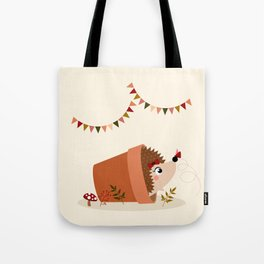 Hérisson et papillon Tote Bag