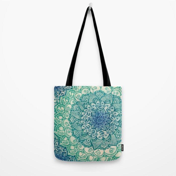 Emerald Doodle Tote Bag