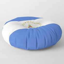 Nicaragua flag emblem Floor Pillow
