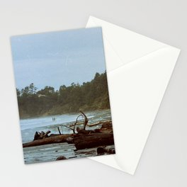 Two Surfers on the beach in Oregon Stationery Cards