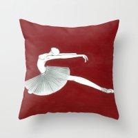 ballerina Throw Pillows featuring Ballerina by Nadina Embrey - Artist / Illustrator