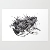 frog Art Prints featuring frog by Gemma Tegelaers