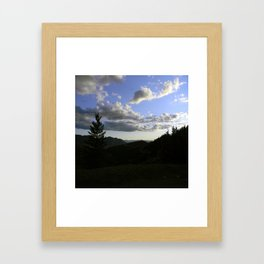 Evening on Top of the Summit.... Framed Art Print