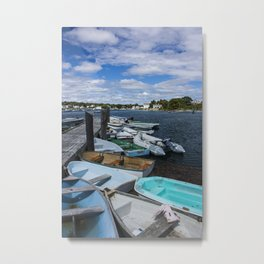 more boats at rest Kennebunkport Maine Metal Print