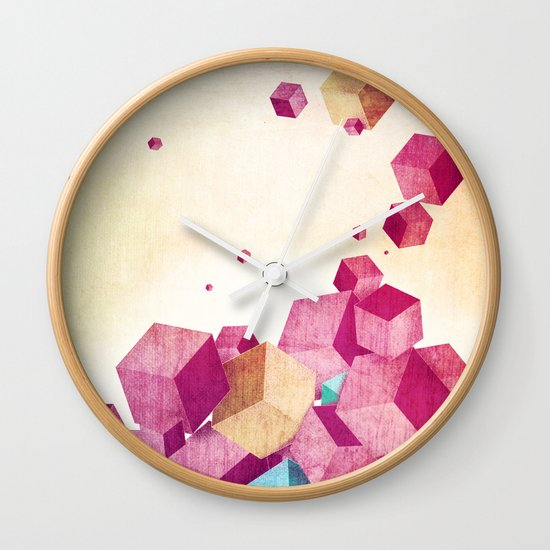 color cubes Wall Clock