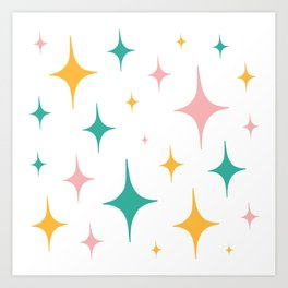 Sparkly stickers Art Print