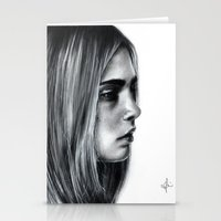 cara Stationery Cards featuring Cara by Siney