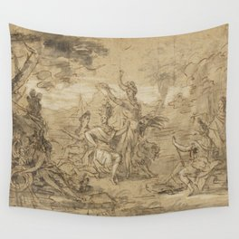 Sketch for a Tapestry circa 1660 Wall Tapestry