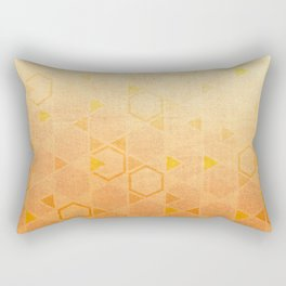 Rose Gold Abstract Rectangular Pillow