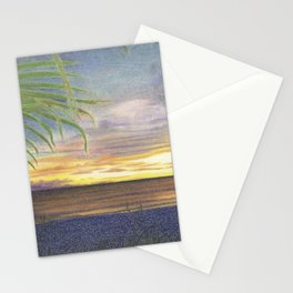 Beautiful Sunset at the Beach Stationery Cards