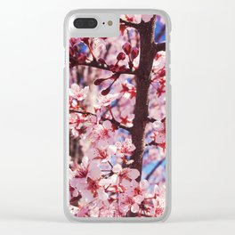Pink Flowering Crabapple Tree Blooms Clear iPhone Case