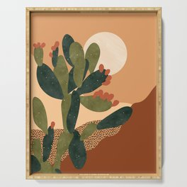 Prickly Pear Cactus Serving Tray