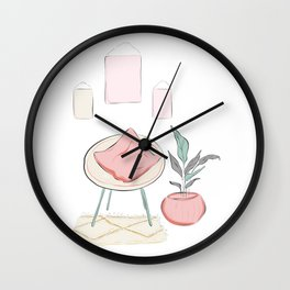 Weekend at home Wall Clock