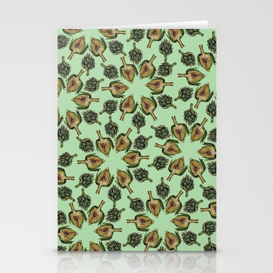 Swirling Artichokes Stationery Cards