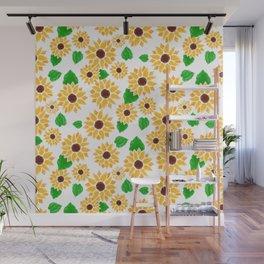 Watercolor Sunflowers Wall Mural