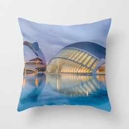 City of Arts and Sciences VIII by CALATRAVA architect Throw Pillow