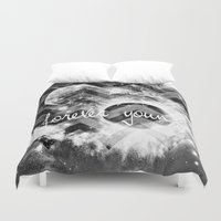forever young Duvet Covers featuring forever young by haroulita
