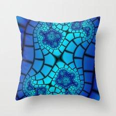 Beveled Blues Throw Pillow