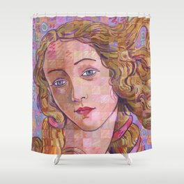 Variations On Botticelli's Venus – No. 4 (Iridescence) Shower Curtain