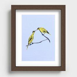 Commitment | line illustration of birds Recessed Framed Print