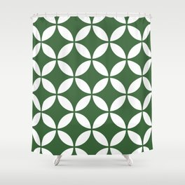 Palm Springs Screen Kelly Green Shower Curtain