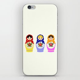 Russian matryoshka nesting dolls iPhone Skin