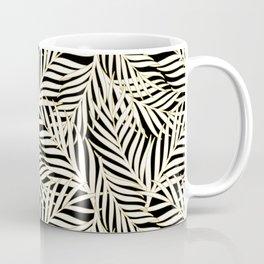 Palm Leaves Bg Black Coffee Mug