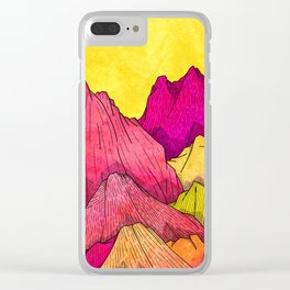 Heat Wave Mountains Clear iPhone Case
