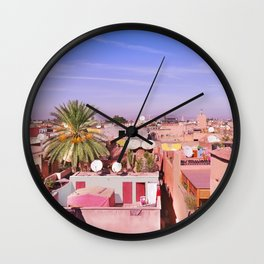 Marrakech Rooftop Wall Clock