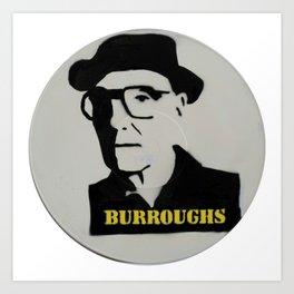 William S. Burroughs Record Painting Art Print