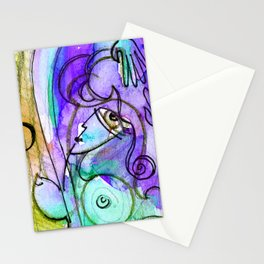 Abstract Nude Goddess No. 40C by Kathy Morton Stanion Stationery Cards