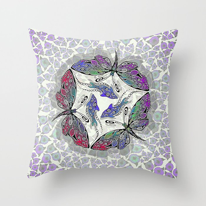 BUTTERDOLPHINS Throw Pillow