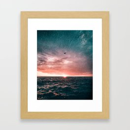 Flying in the Storm Framed Art Print