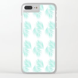 Palm Leaves Pattern #1 #Mint #decor #art #society6 Clear iPhone Case