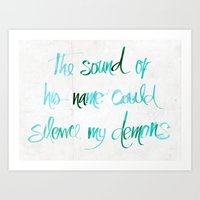 The sound of his name Art Print