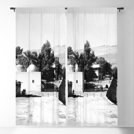 The lakefront at Galilee. Tiberias. 1945 Blackout Curtain