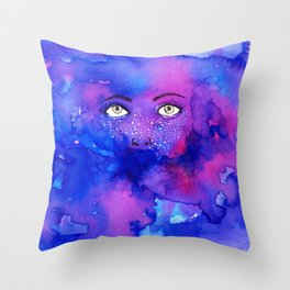 Starry Freckles Throw Pillow